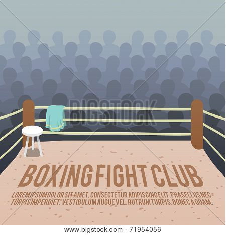 Boxing ring background
