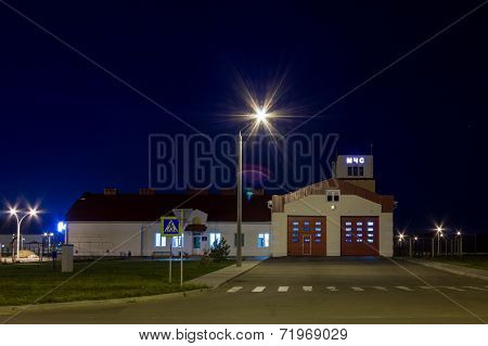 Night Shot  The Building Of Firehouse.
