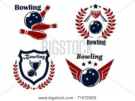 Bowling emblems or badges