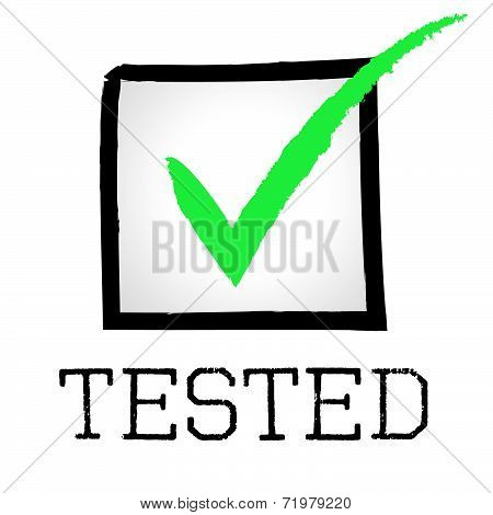 Tick Tested Shows Pass Approved And Tests