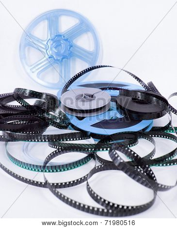 old 8mm cine film and reels