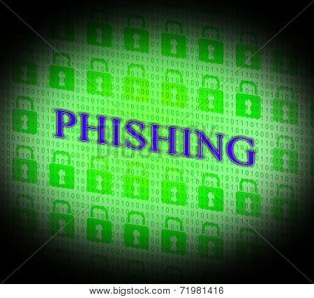 Phishing Hacked Represents Theft Hackers And Unauthorized