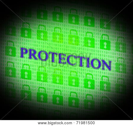 Security Protection Means Forbidden Password And Unauthorized
