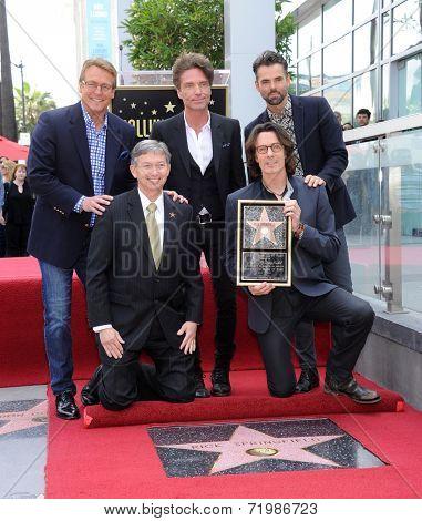 LOS ANGELES - MAY 09:  Rick Springfield, Doug Davidson, Richard Marx, Jason Thompson &  arrives to the Walk of Fame Honors Rick Springfield  on May 09, 2014 in Hollywood, CA.