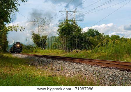 Distant Steam Train