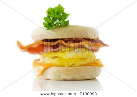 Toasted English Bacon & Egg Muffin