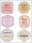 Best and premium quality retro label, tag or sticker set for best limited edition products and guaranty on original brands,  poster