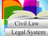 Civil Law Showing Crime Judiciary And Legally poster