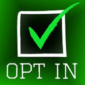 Opt In Meaning Tick Symbol And Pass poster