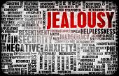 Jealousy as a Negative Emotion Concept Art poster