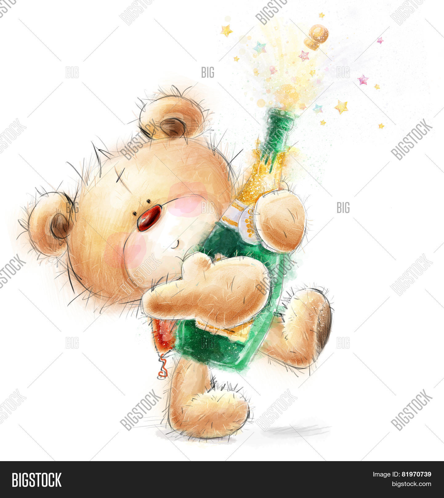 Cute Teddy Bear Bottle Image Photo Free Trial