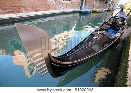 Big Gondola On The Water In Venice
