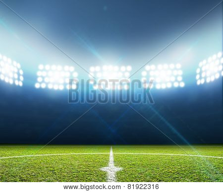Stadium And Soccer Pitch
