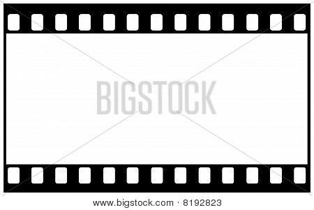 Blank film frame for wide image
