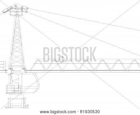 Tower crane, top