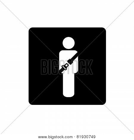 People Icon With Seat Belt Vector