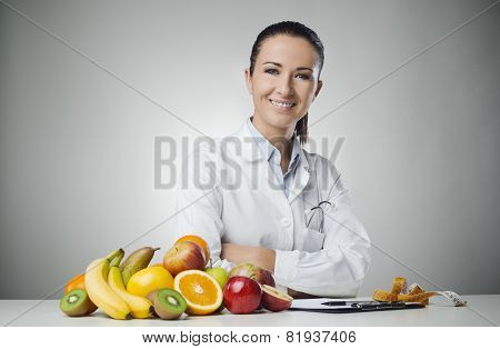 Smiling Nutritionist At Work