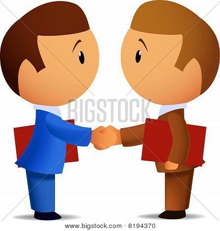 Two businessmens handshake