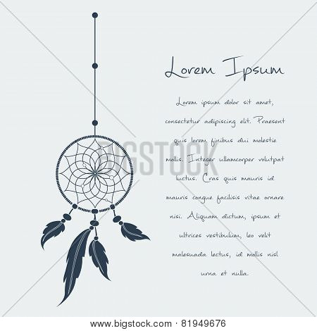 vector dream catcher text