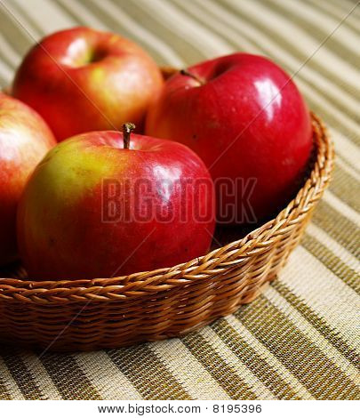 Red Apples In The Basket