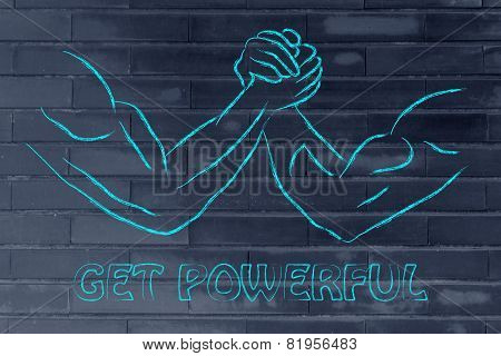 Trial Of Strength, Arm Wrestling Design: Get Powerful