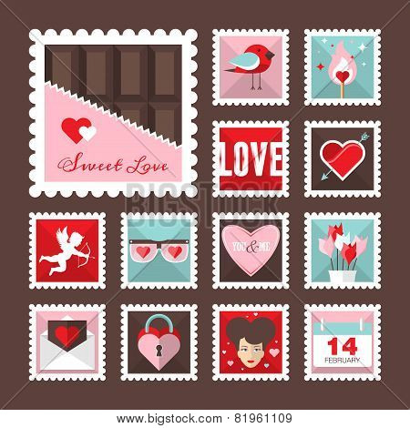 Valentines Day, Love Stamps
