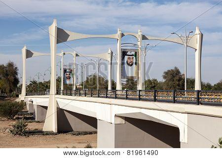 Bridge With Sheikh Portraits, Al Ain, UAE