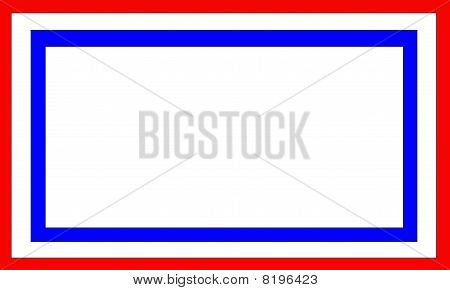 Patriotic Frame With White Center