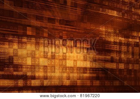 Cyber Background. Digital Computer Encryption Abstract Background Illustration with Hidden Passcode Overlay. Computer Technology Background. poster