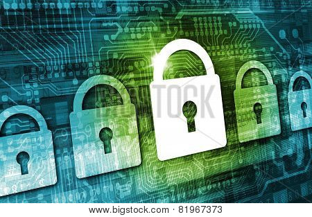 Online Data Security Concept
