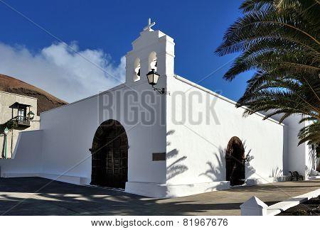 Church Ermita De San Marcial Del Rubicon At Femes, Lanzarote Island, Canary Islands, Spain