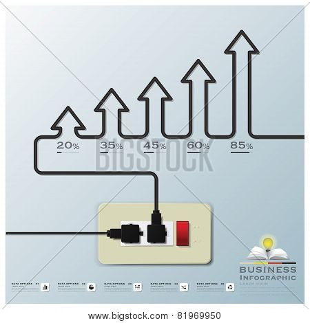 Arrow Electric Wire Business Infographic Background