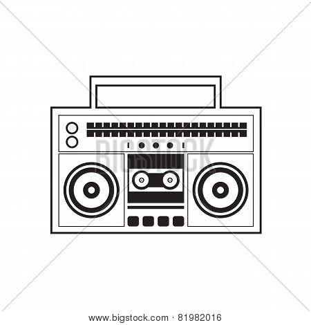 Ghetto Blaster Radio.