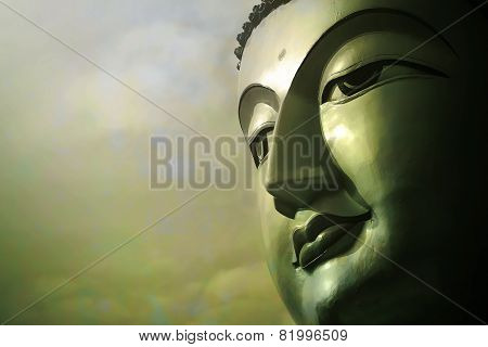 Portrait Of Buddha Statue
