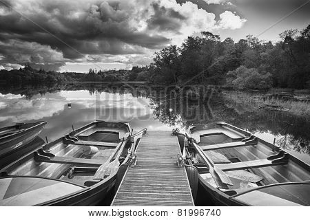 Rowing Boats On Lough Eske, Co. Donegal, Ireland