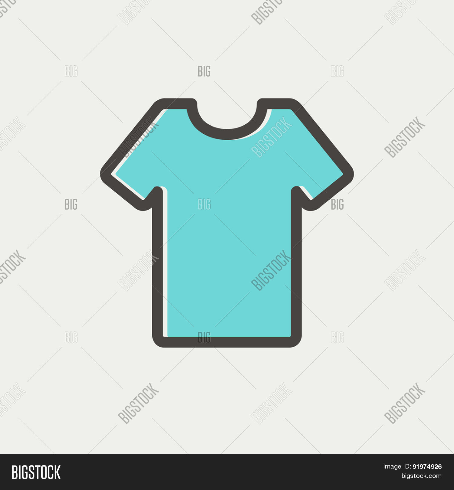 T-shirt icon thin line for web and mobile, modern minimalistic flat design.