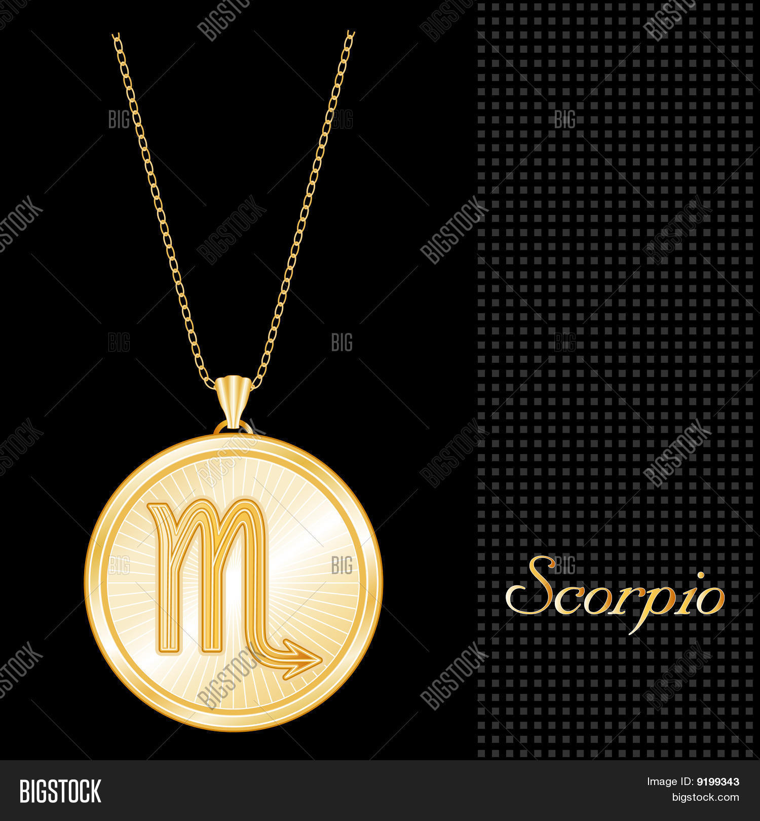 silver p scorpio vincze chain s zodiac medallion by products on pendant large