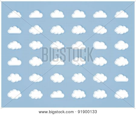 Set of cloud