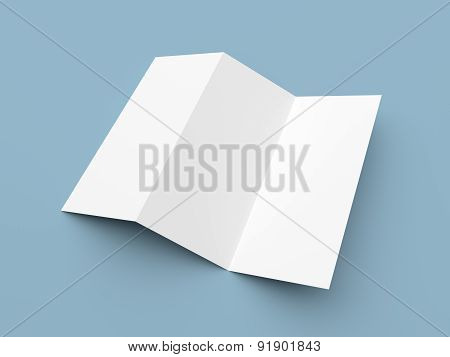 Leaflet Blank Zigzag-fold White Paper Brochure