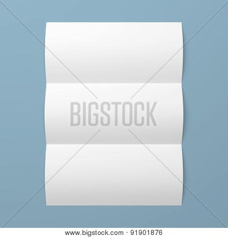 Leaflet Blank Tri-fold White Paper Brochure