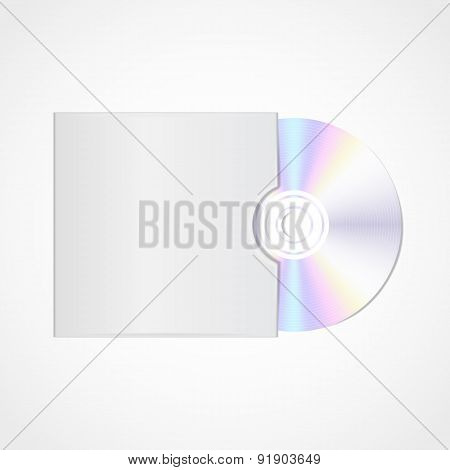 Vector realistic  blank compact disc