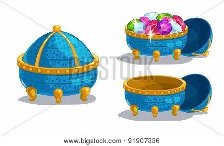 Little Cartoon Blue Casket