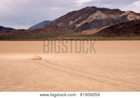 Moving Rocks, Death Valley Np, California, Usa