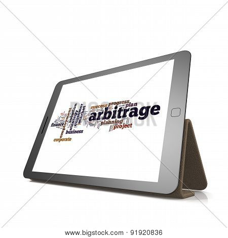 Arbitrage Word Cloud On Tablet