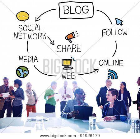Blog Blogging Communication Connect Data Social Concept