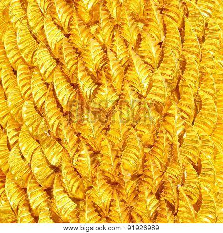 Gold Leaves Foil Wonderful Metallic Background