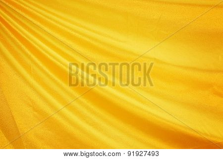 Gold Fabric Silk For Background