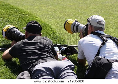 Photographers At The Ana Inspiration Golf Tournament 2015