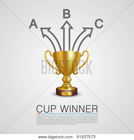 Graphic information Winner cup art