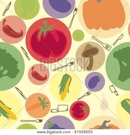 vegetables vector seamless pattern